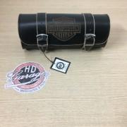 Porta Ferramentas Em Couro - Motivo Bar&Shield - Tam Pequeno - Preto com Bordas Lixadas - 008/19700