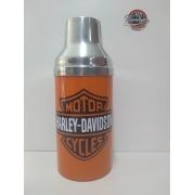 Porta Garrafa Térmico - Em Metal - Motivo Harley- Davidson - Laranja - 022/10108