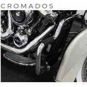 Protetor de Motor Customer - HD Touring - Moustache - 1 1/4 Pol - Cromado com Borracha - 015/23209