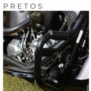 Protetor de Motor Customer - HD Touring - Moustache - 1 1/4 Pol - T-Black com Borracha - 015/46006