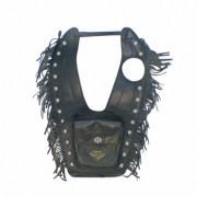 Protetor de Tanque Couro Sintético com Franjas - HD Softail - 015/61307 E3