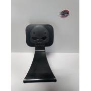 Sissy Bar Fixo - HD Breakout - Motivo Skull - Preto Fosco - 011/32204