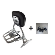 Sissy Bar - Modelo Tubular e Destacável com Kit Dockings - HD Fat Boy até 2017 - Cromado - 007/17165