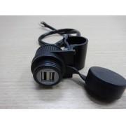 Suporte para Fixação de 2 Cabos USB no Guidão - Universal - 022/44902