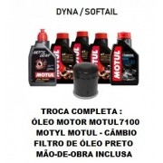 TROCA DE ÓLEOS - DYNA/SOFTAIL - MOTUL 7100 - 20W50 - FILTRO PRETO - OF36010