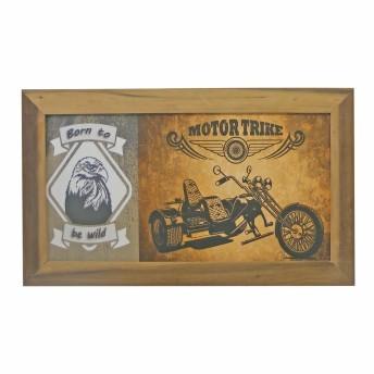 Azulejo Decorado Emoldurado - Motivo Moto - 68x40 - 034/10104