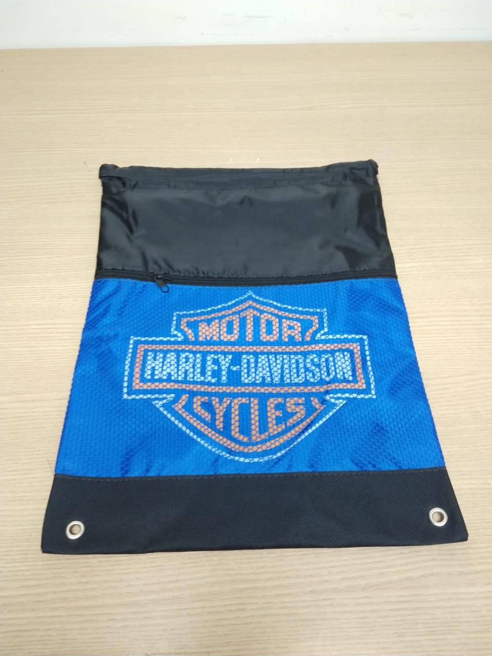 Bag em Nylon Reforçado com Bolso Frontal - Motivo Bar & Shield - Azul - 008/28206