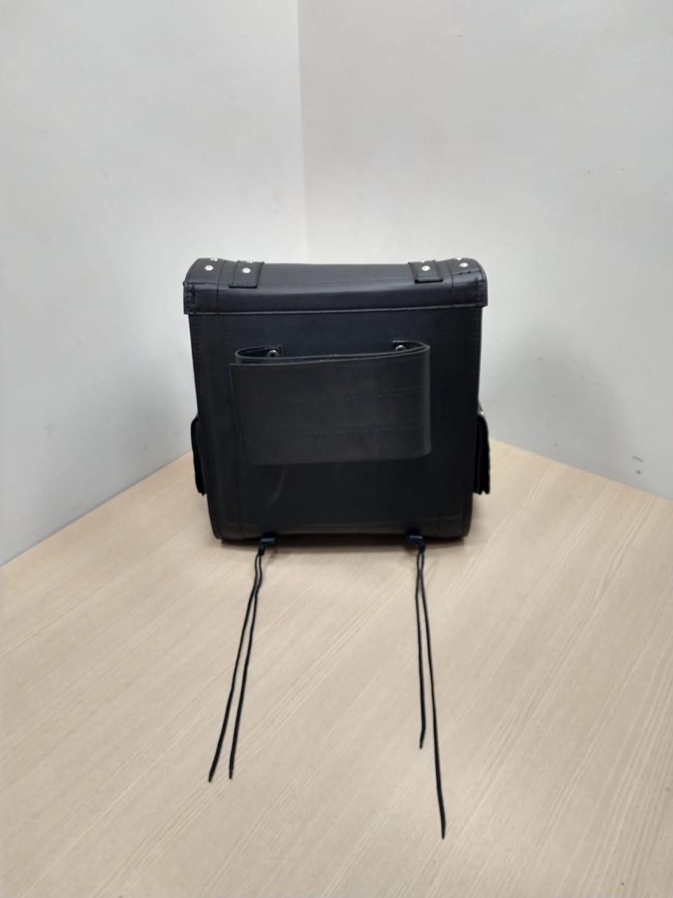 Baú /Mala Traseira Em Couro Sintético - V2 Custom - Multifit - Preta - 008/82728