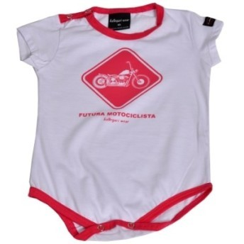 Body Infantil Fem Branco E Rosa - Custom - Bodycf - 037/03404