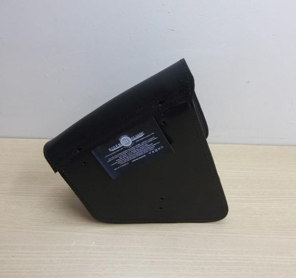 Bolsa de Balança em Couro - Motivo Bar & Shield - HD Softail - Tam Grande - Preta - 008/49406