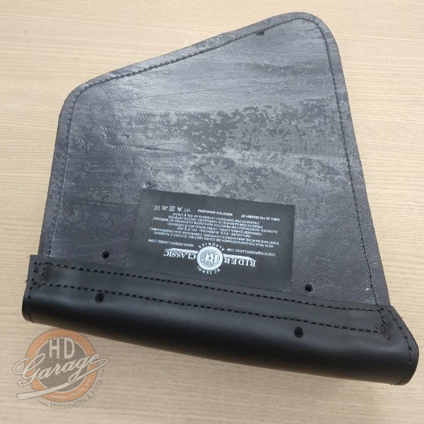 Bolsa de Balança em Couro - Motivo Bar & Shield - HD Sportster - Tam Médio - Preta - 008/98607