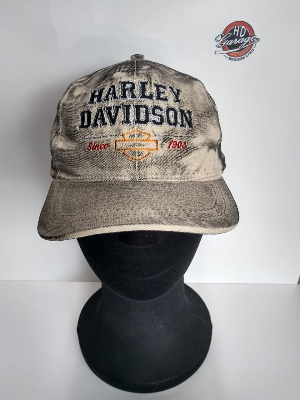 Boné Creme Efeito Engraxado - Motivo Harley-Davidson Since 1903 - 024/51408