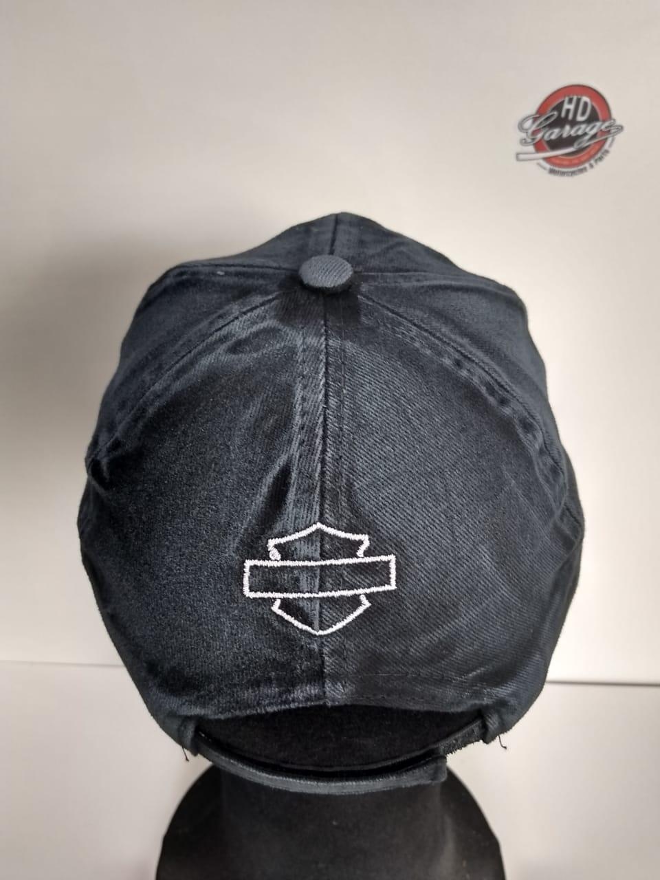 Boné Preto Estonado - Logo Skull Grande - 024/91322