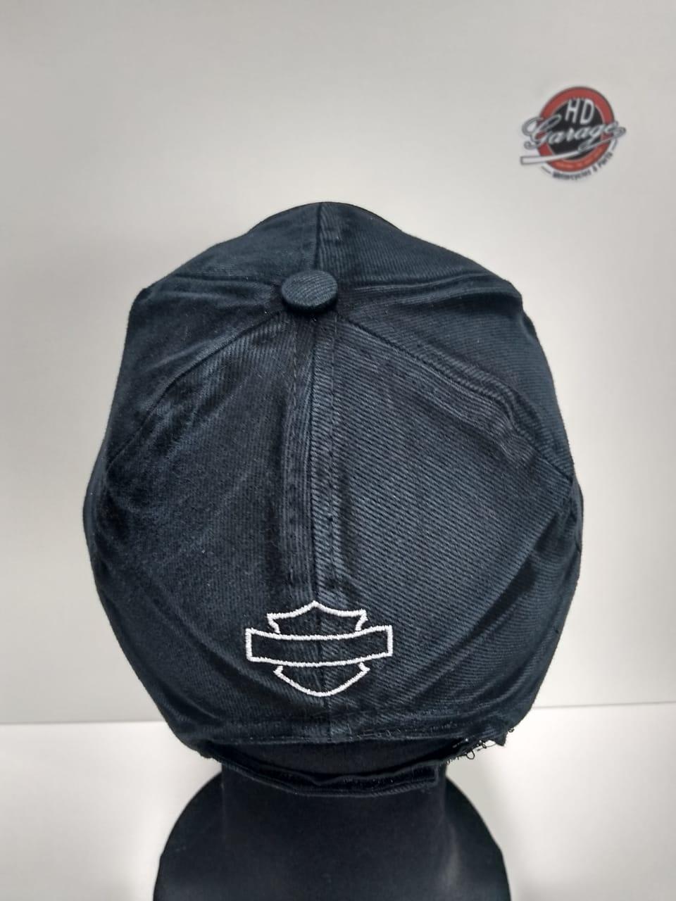 Boné Preto Estonado - Motivo Logo Bar&Shield - 024/64247