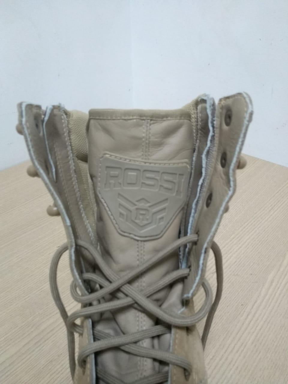 Bota De Couro Masc - Cano Médio - Modelo Sniper Areia - Tam 46 - 021/95704