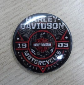 Botton Decorativo em Metal - Motivo Harley- Davidson 01 - 022/04601