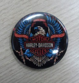 Botton Decorativo em Metal - Motivo Harley- Davidson 05 - 022/41303