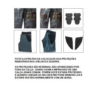 Calça Jeans Masculina para Uso com Proteções Removíveis - HLX Spencer - 025/26406