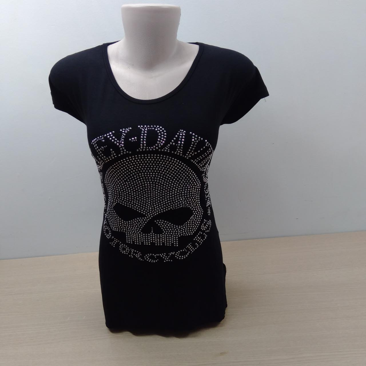 Camiseta Fem Longuete - Motivo Willie G Strass - 040/94644