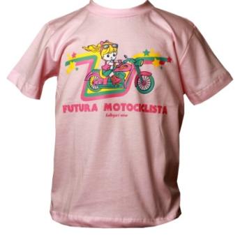 Camiseta Infantil - Futura Motociclista - Rosa - 037/94409