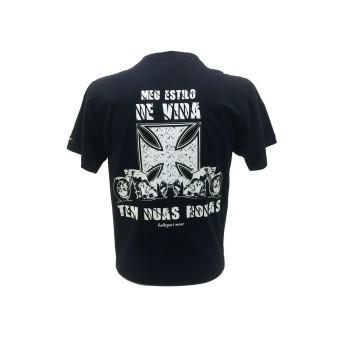 Camiseta Masc Preta - Meu Estilo De Vida - 19111 - 026/42009