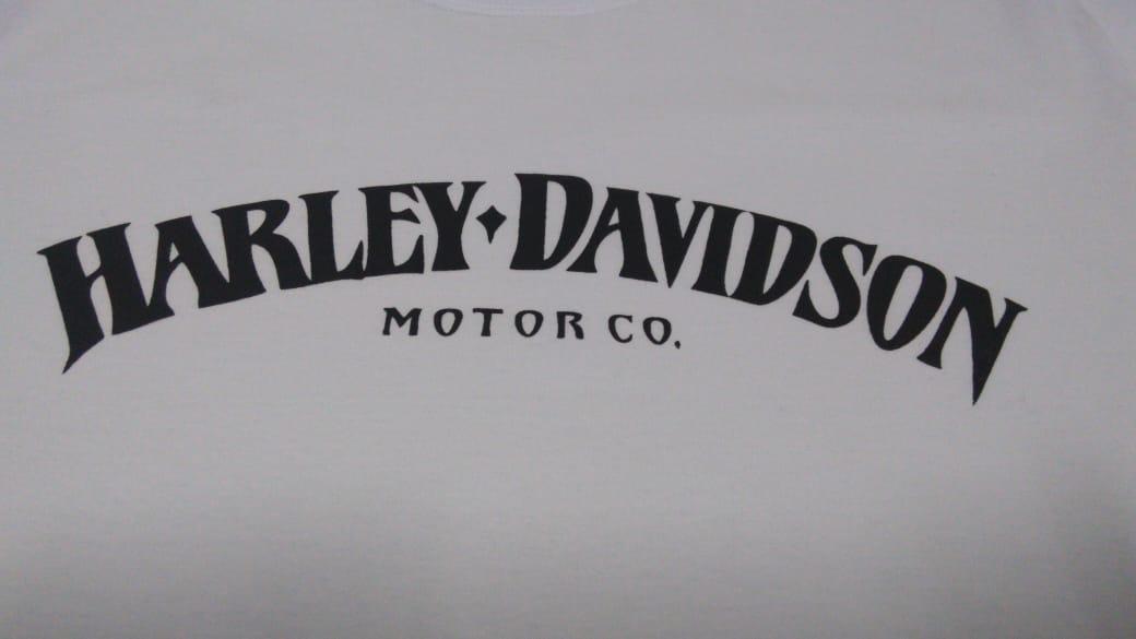 Camiseta Masculina - Motivo Harley-Davidson - Branca Mod 08 - 026/67802