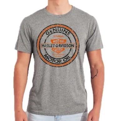 Camiseta Masculina - Motivo Harley-Davidson - Cinza Mod 03 - 026/74041