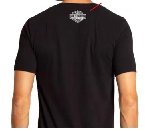 Camiseta Masculina - Motivo Harley-Davidson - Preta Mod 02 - 026/90409