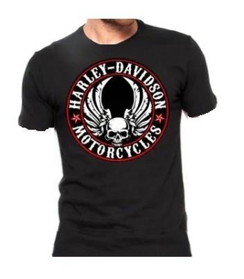 Camiseta Masculina - Motivo Harley-Davidson - Preta Mod 06 - 026/72804