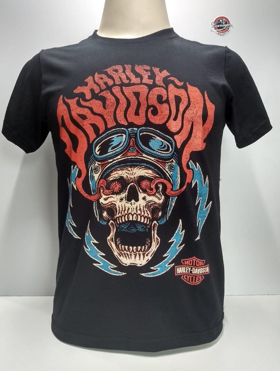 Camiseta Masculina - Motivo Harley-Davidson - Preta Mod 12 - 026/62928