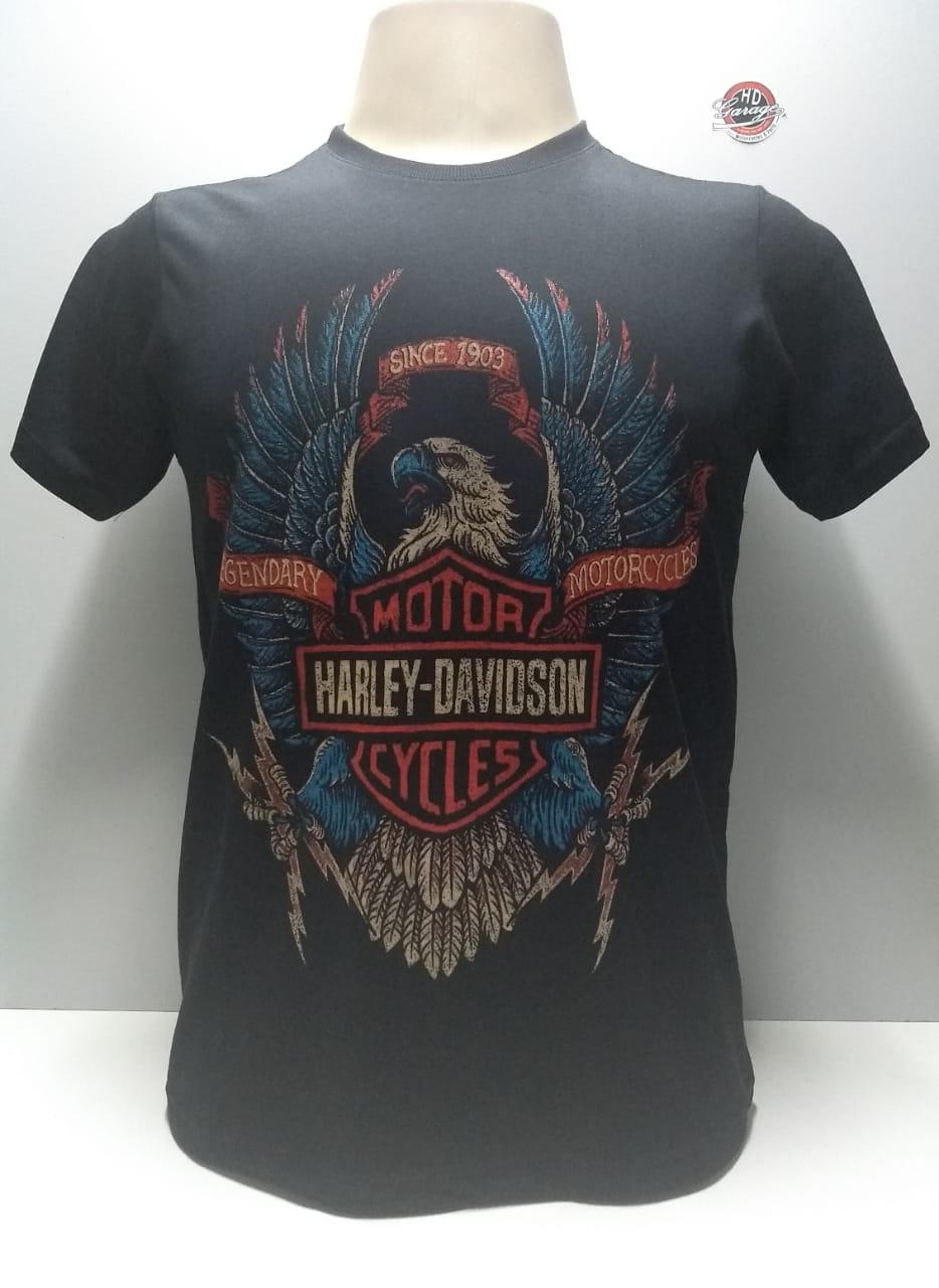 Camiseta Masculina - Motivo Harley-Davidson - Preta Mod 15 - 026/64247