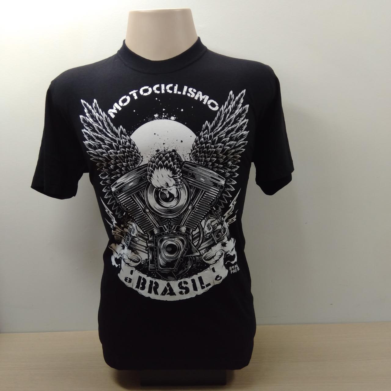 Camiseta Masculina - Motivo Motociclismo Brasil - 026/49602