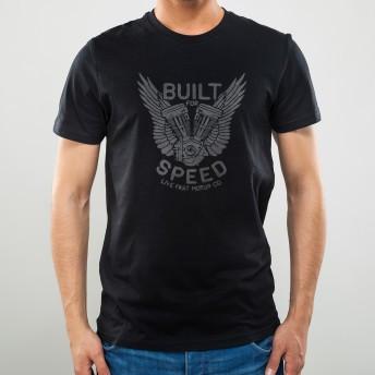 Camiseta Preta Built for Speed - NOISE - 100% Algodão - 026/86204