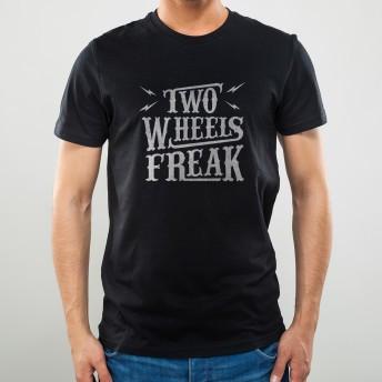 Camiseta Preta Two Wheels Freak - NOISE - 100% Algodão - 026/76206