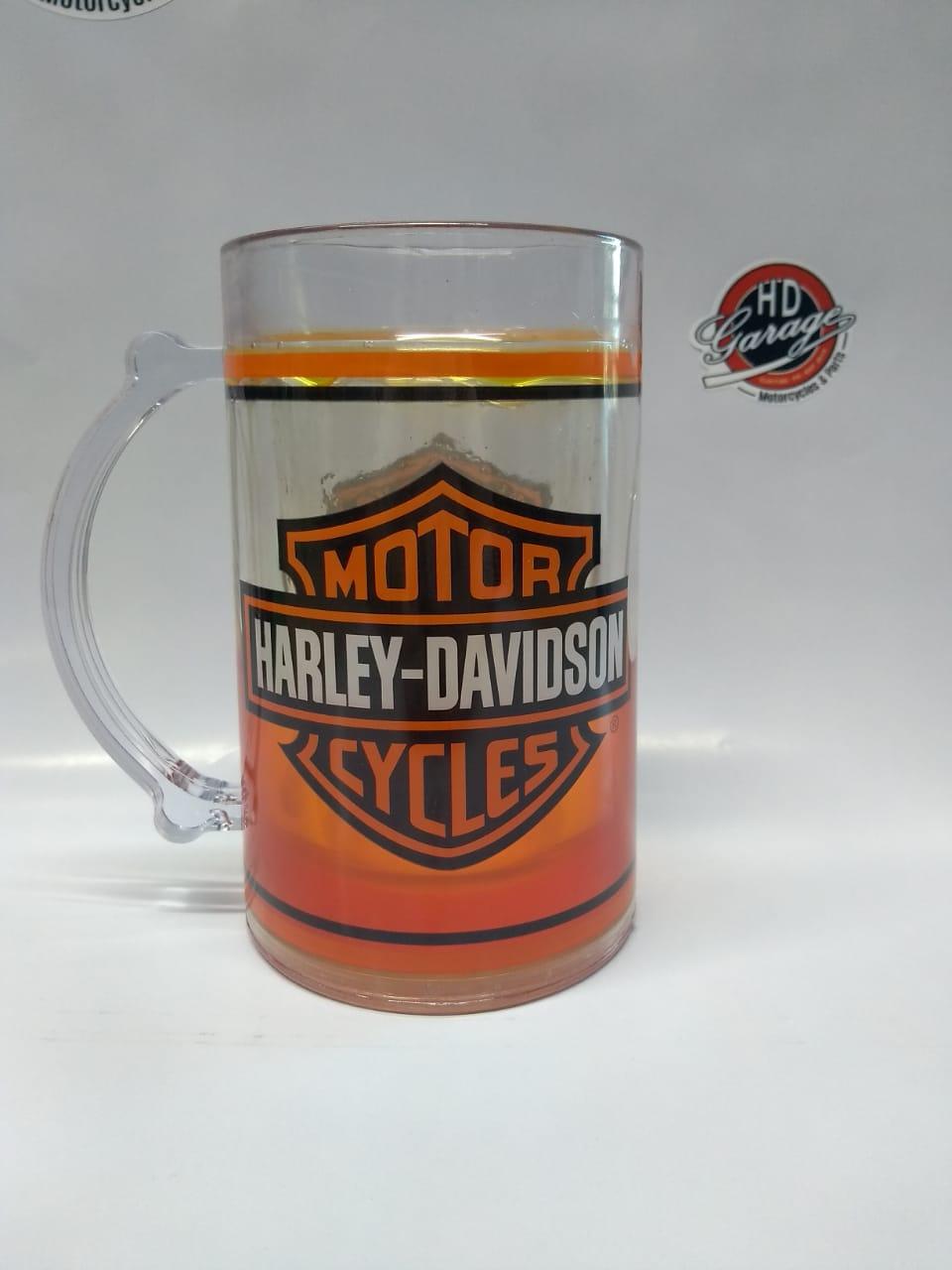 Caneca com Gel - Motivo Harley-Davidson - Laranja - 022/79503
