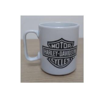 Caneca em Porcelana Branca - Motivo Bar & Shield - 022/58705