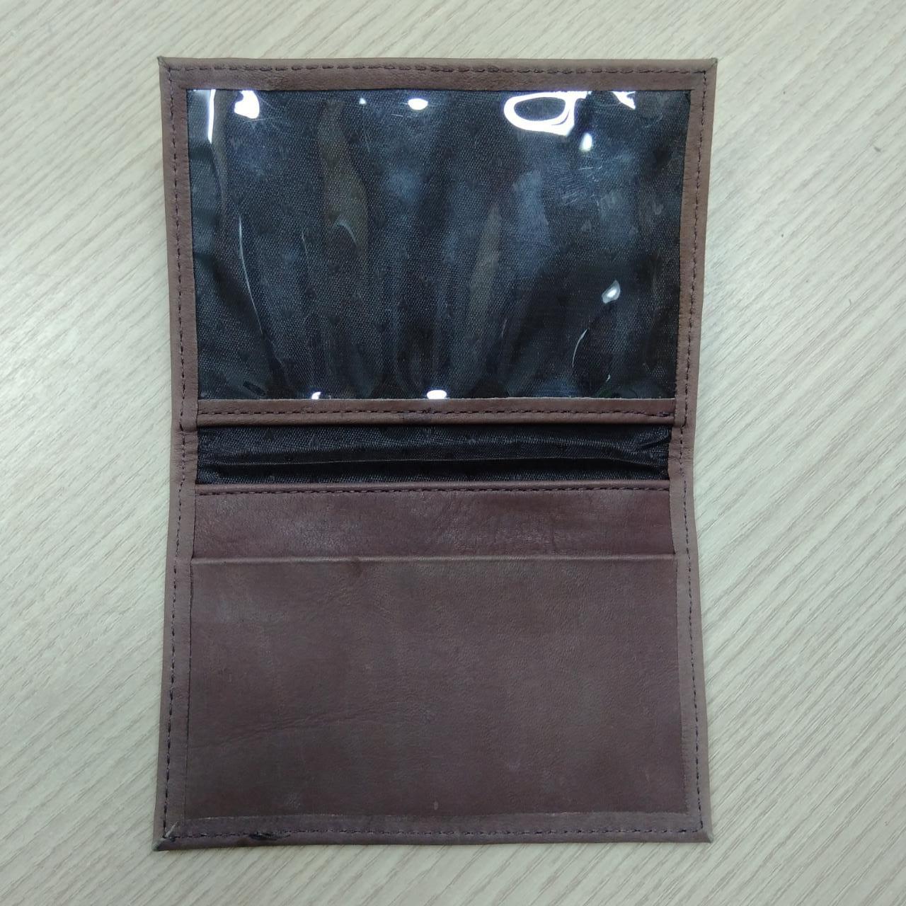 Carteira Porta Documento Em Couro Marrom Claro - Logo Skull - 022/19806