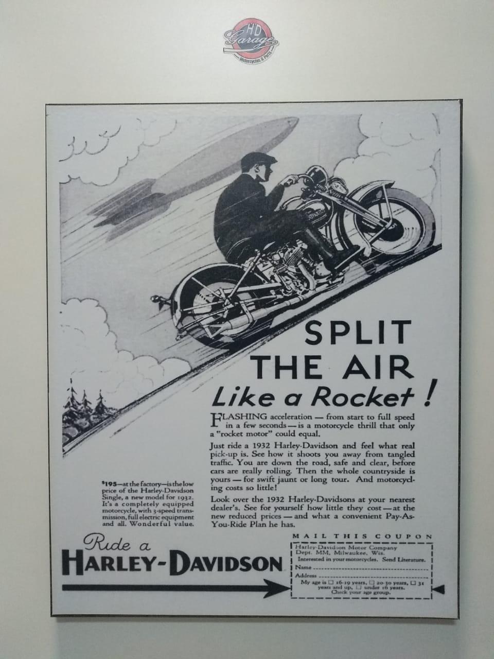 Chapa Decorativa - Motivo Harley-Davidson - MDF 40 X50 CM - Modelo 12 - 034/24201