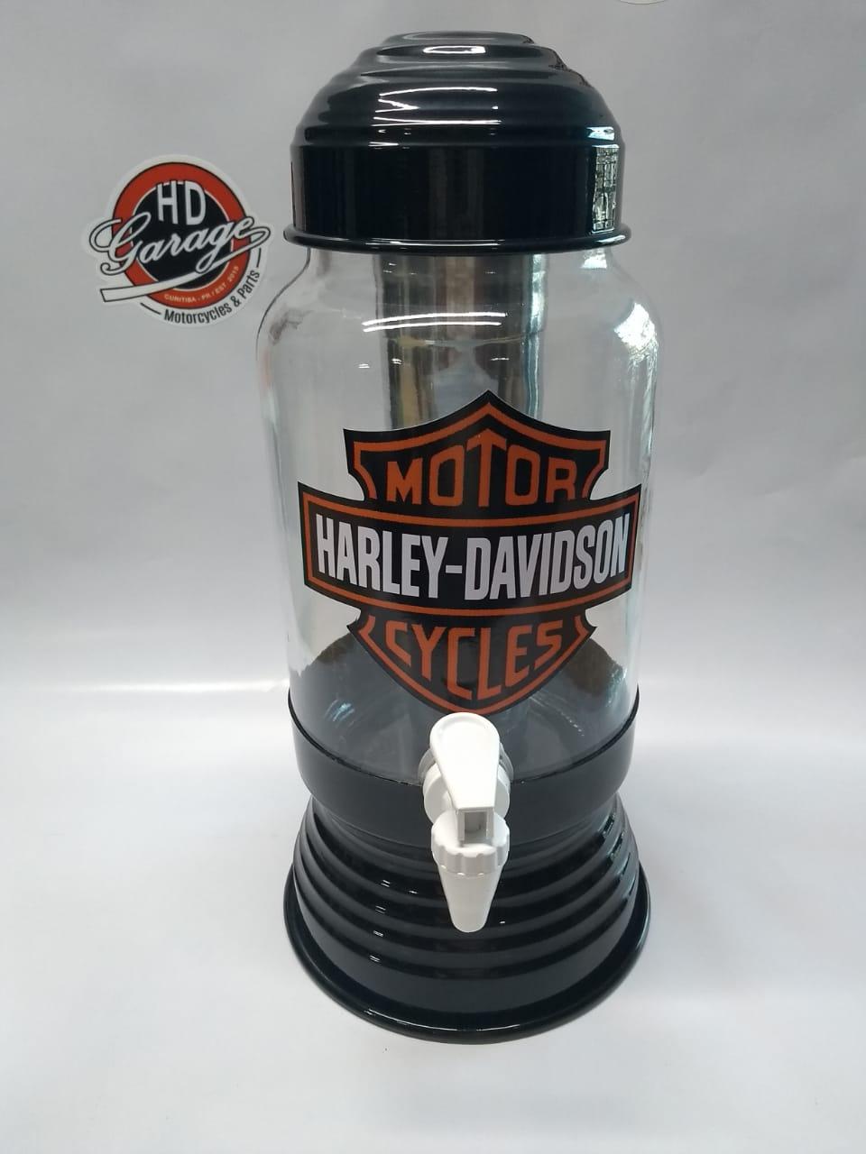 Chopeira Vidro e Metal - Motivo Harley-Davidson - Preta - 022/86708