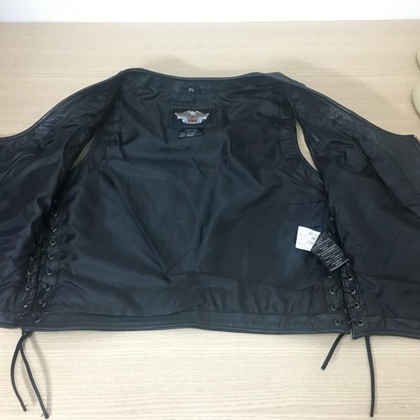 Colete de Couro Feminino - Harley-Davidson - Tam XL - Preto - 048/89649