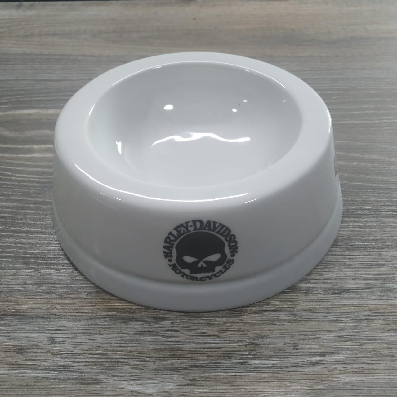 Comedouro para Cães/ Gatos - Motivo HD Logos Diversas - Branco - Tam Médio - 022/62400