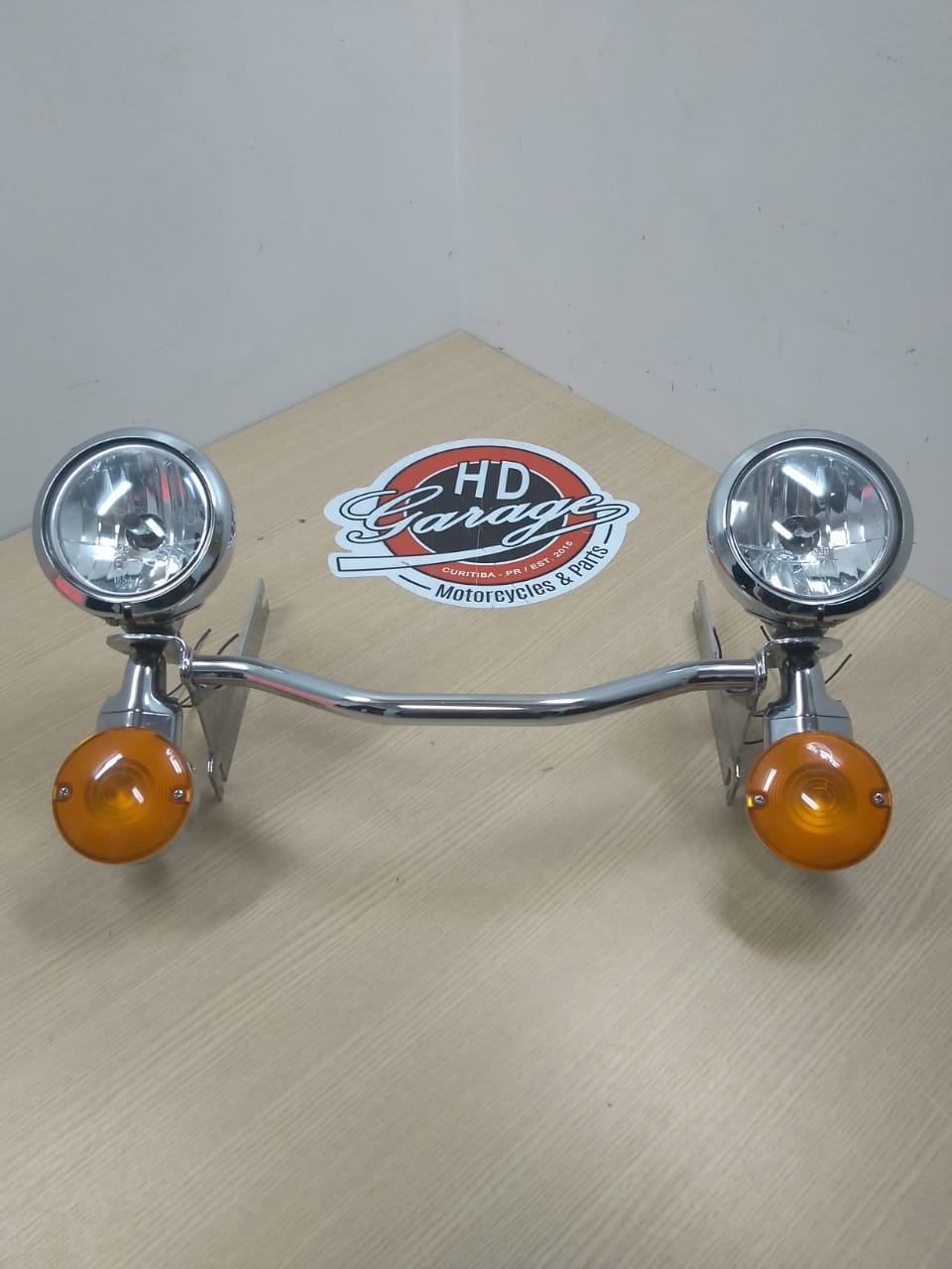 Faróis Auxiliares Cromados Genuinos - HD Touring Road King - Par - 001/34403
