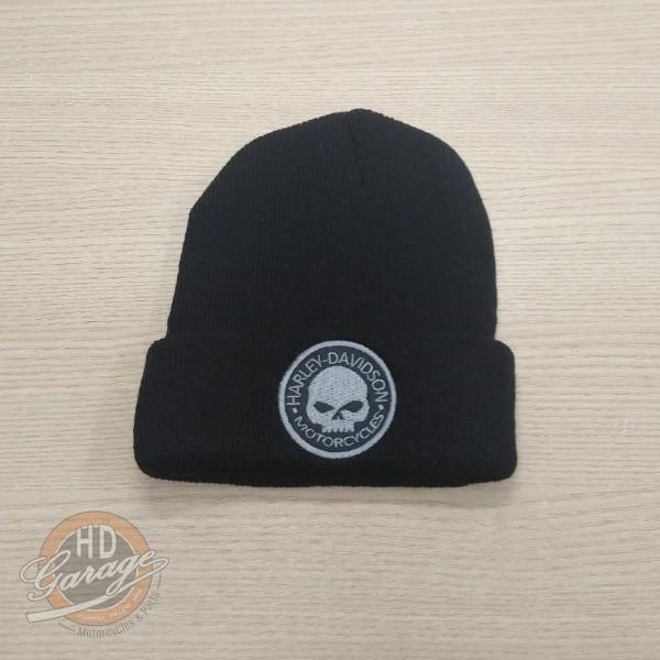 Gorro Lã Preto - Logo Willie G Skull Harley-Davidson - 024/56508