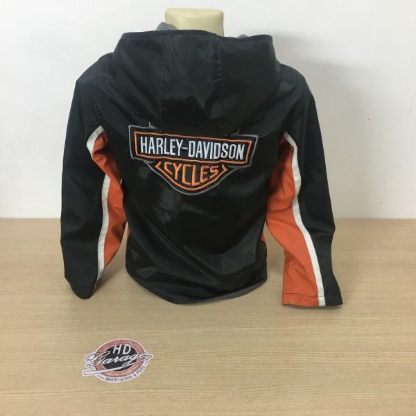 Jaqueta Dupla Face - Nylon / Fleece - Harley-Davidson Kids 8 /10 - Laranja/Preto/Branco - 037/28504