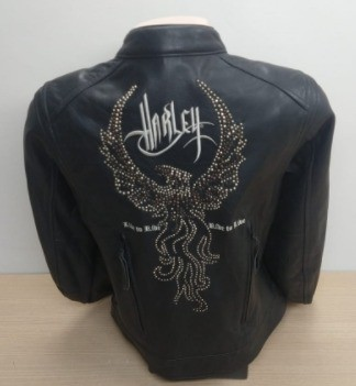 Jaqueta Feminina de Couro Harley-Davidson - Tam M/M - Preta - 042/76808