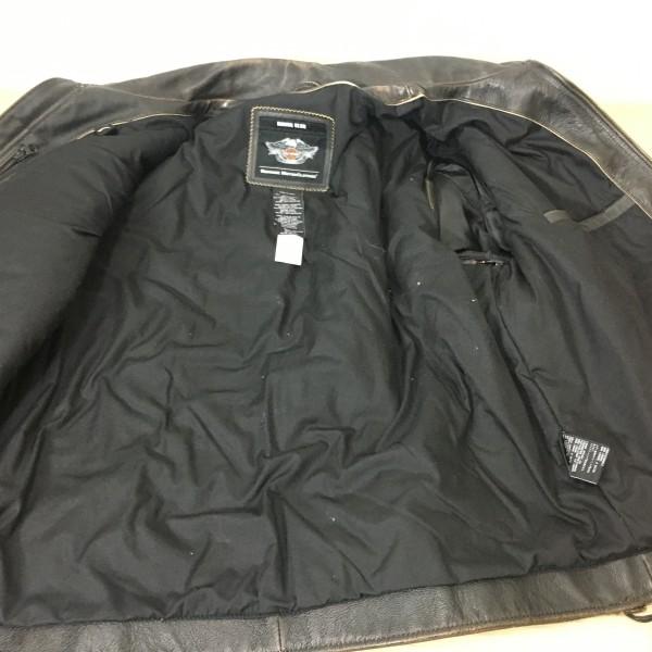 Jaqueta Masculina em Couro - Harley-Davidson - PanHead II - Colete - Preta/Marrom - Tam 2XL - 032/43208