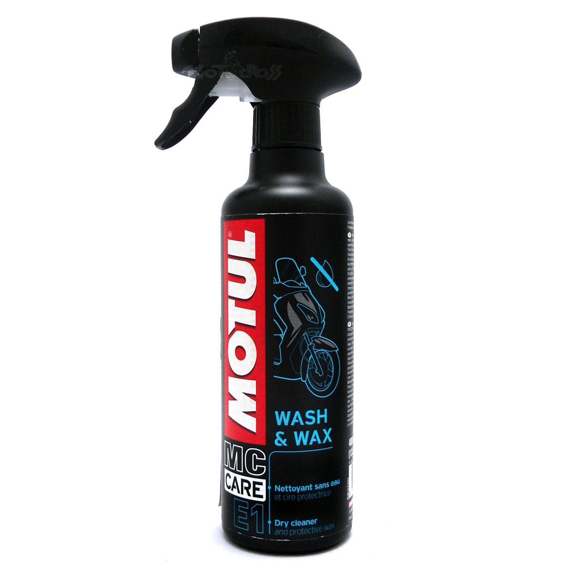 Motul E1 - Wash E Wax - Limpeza a Seco - Spray 400 ml - 102996