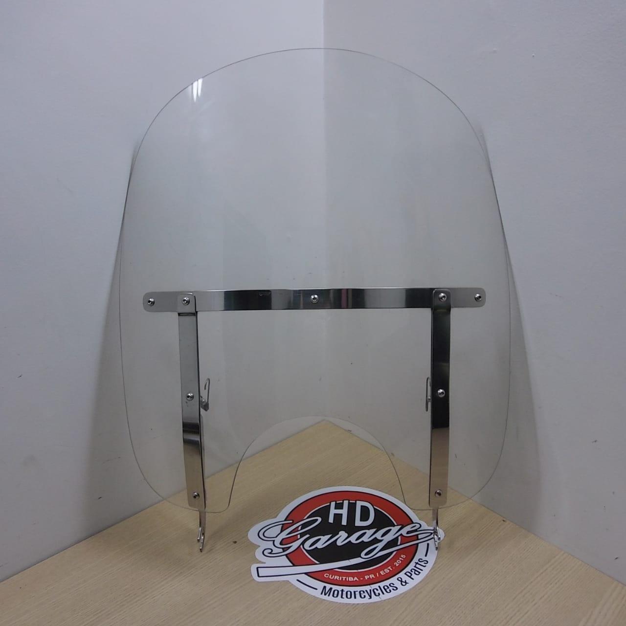 Parabrisa Policarbonato Cristal - Perfil Alto - HD Softail 2000 até 2017 - Destacável - 011/03807