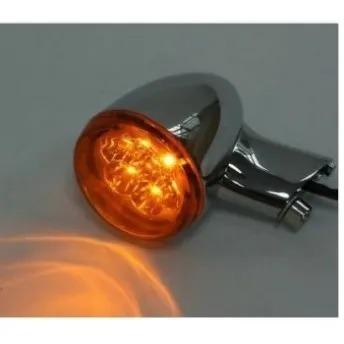 Piscas Traseiros de LED - Cromados com Lentes Laranja - HD Multifit - Par - 001/33404