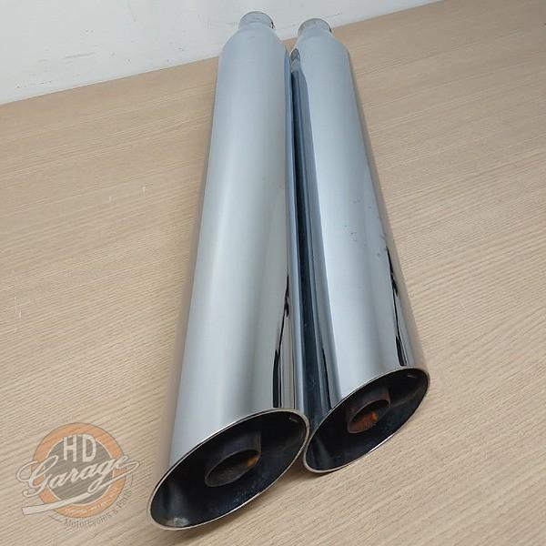 Ponteiras Originais Cromadas - HD Dyna Fat Bob - Par - 010/21041